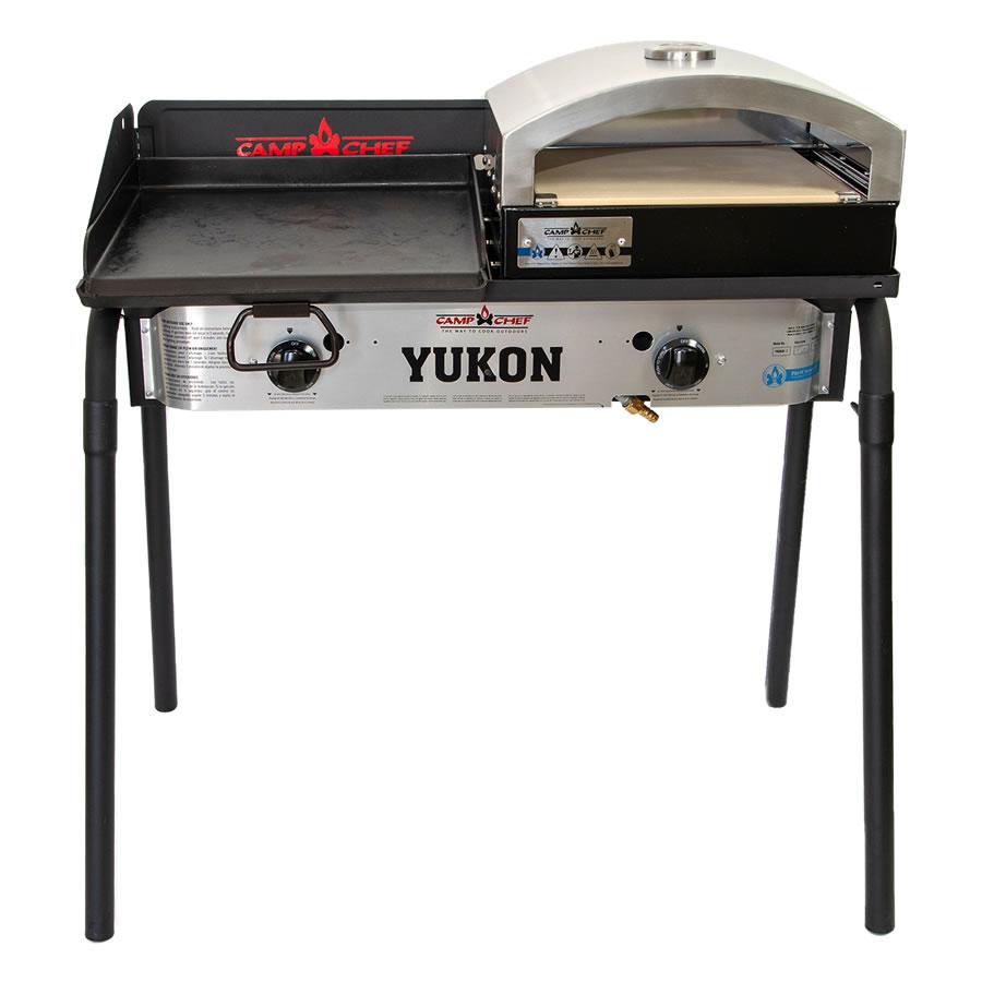 キャンプシェフ YUKON 2バーナーBBQグリル YK60LW(J) グリドル&ピザ窯セット [国内正規品] Camp Chef《山梨倉庫出荷》