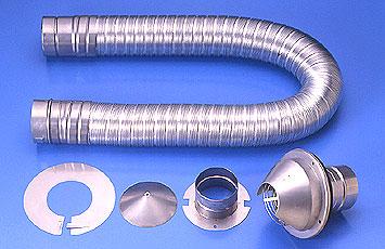 購入 リンナイガス衣類乾燥機オプション リンナイ メイルオーダー DPS-100 22-6896 ガス衣類乾燥機用 排湿管セット