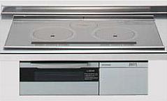 *クリナップ*ZEFCR7M10DSS IHクッキングヒーター ビルトインタイプ 天板75cm 自動判別両面焼 シルバー