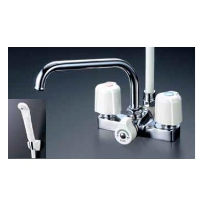 *KVK水栓金具*浴室用水栓 バス水栓 KF14ER2/KF14ZER2 デッキ形2ハンドルシャワー【送料・代引無料】
