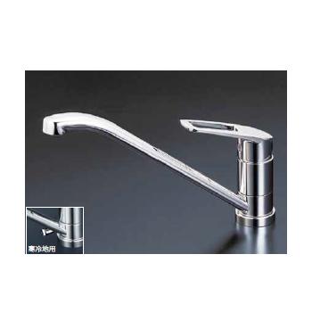*KVK水栓金具*キッチン水栓 KM5211T/KM5211ZT 流し台用シングルレバー式混合栓 フルメタルシリーズ【送料・代引無料】