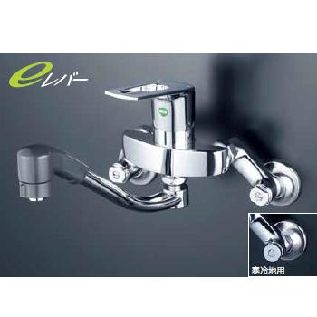 *KVK水栓金具*キッチン水栓 KM5000ZTFEC 流し台用シングルレバー式シャワー付混合栓 eレバー 寒冷地用【送料・代引無料】