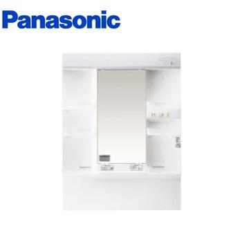 *パナソニック*XGQM75K1SMKC [MLINE] 洗面化粧台 ミラーキャビネットのみ 電源コード付 75cm 蛍光灯1面鏡 くもりシャット仕様