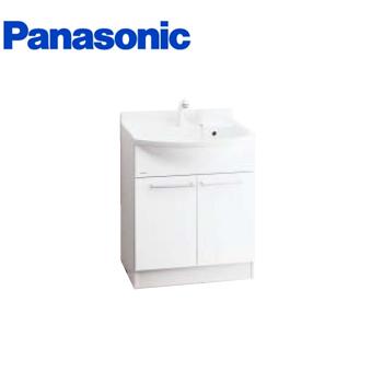 *パナソニック*GQM60KSCW [MLINE] 洗面化粧台 本体キャビネットのみ 60cm シングルレバーシャワー混合水栓