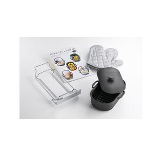 *パロマ*PGD-3 ガスコンロ用 ダッチオーブンセット 南部鉄器製[日本製] 料理ブック付