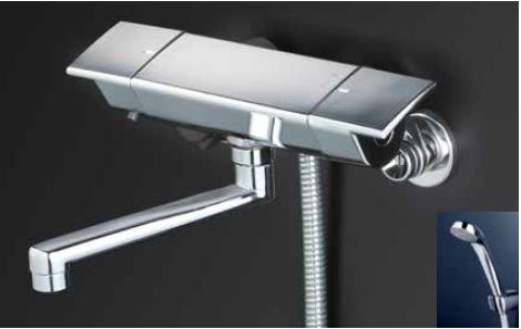 *KVK水栓金具*KF3050WR1 サーモスタット式 浴室用シャワー水栓 eシャワーNf 寒冷地用〈送料・代引無料〉
