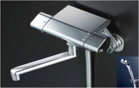 *KVK水栓金具*KF850R1 サーモスタット式 浴室用シャワー水栓 eシャワーNf〈送料・代引無料〉