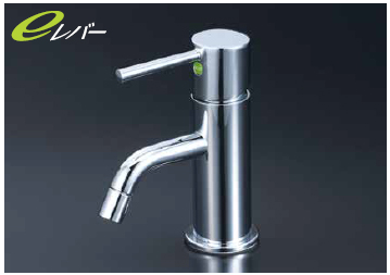 *KVK水栓金具*LFM612UAEC 洗面用 シングルレバー式混合栓 e-レバー〈送料・代引無料〉