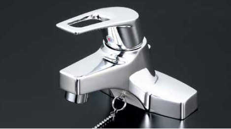 *KVK水栓金具*KM7014ZTA 寒冷地仕様 ハンドル湯側回転角度規制タイプ 洗面用 シングルレバー式混合栓〈送料・代引無料〉