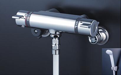 *KVK水栓金具* KF800TF 浴室用 サーモスタット式シャワー水栓[シャワー専用型]〈送料・代引無料〉
