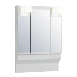 *クリナップ*M-[H/L]753GAEH ミラーキャビネットのみ 三面鏡 LEDランプ くもり止めヒーター有[BGAシリーズ] [間口75cm]