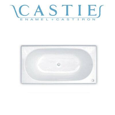 *DAIWA/大和重工*CIE-1680[L/R] 260L CW クリスタルホワイト 幅160cm CASTIE ENAMEL ホーロー浴槽〈法人宛のみ/メーカー直送送料無料〉
