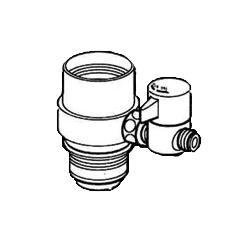 *ナニワ製作所*NSJ-SMH7 [デッキタイプ・シングルレバー] 湯水混合水栓用 分岐水栓【送料無料】