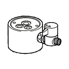 *ナニワ製作所*NSJ-SGA7 [デッキタイプ・シングルレバー] 湯水混合水栓用 分岐水栓