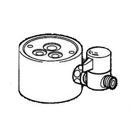 *ナニワ製作所*NSJ-SGB7 [デッキタイプ・シングルレバー] 湯水混合水栓用 分岐水栓