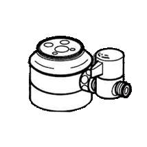 *ナニワ製作所*NSJ-SED7 [デッキタイプ・シングルレバー] 湯水混合水栓用 分岐水栓