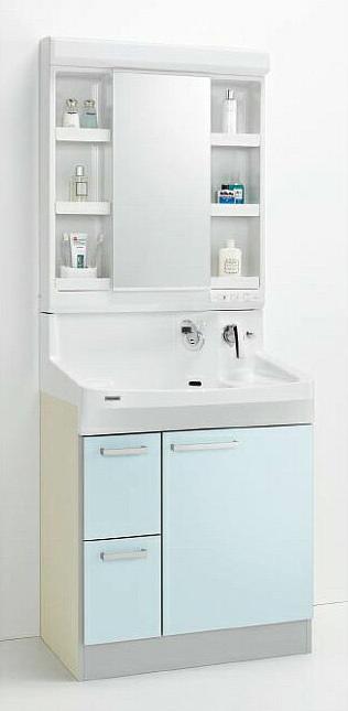*クリナップ*ファンシオ 洗面化粧台セット 間口75cm M-751PF+BPF[H/L]752MY 引出しタイプ