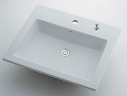 *KAKUDAI*493-008H Luju 角型洗面器