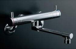 *KAKUDAI*128-014 水栓金具 2ハンドル混合栓