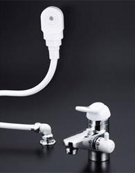 【3年保証無料】*KVK*KF309AF2-HGN 水栓金具 シングルレバー式洗髪シャワー 3ッ穴タイプ