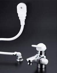 【3年保証無料】*KVK*KF309AF2Z-HGN 水栓金具 シングルレバー式洗髪シャワー 3ッ穴タイプ [寒冷地用]