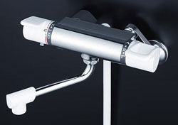 *KVK*KF880R2 水栓金具 サーモスタット式シャワー 240mmパイプ付