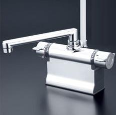 *KVK*KF3011T 水栓金具 デッキ形サーモスタット式シャワー 可変ピッチ式