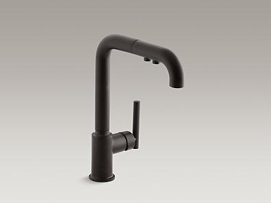 *Kohler*【正規輸入品/保証付】ピュリスト シングルレバー キッチン水栓 K-7505-BL マットブラック〈送料無料〉