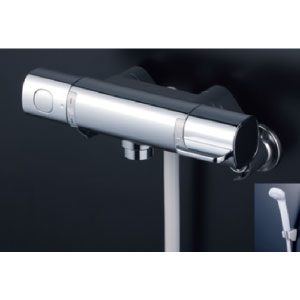 *KVK水栓金具* FTB100KWRNT サーモスタット式シャワー 浴室用水栓 eシャワー〈送料・代引無料〉