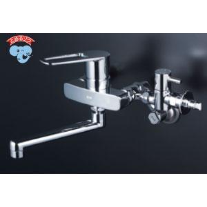*KVK水栓金具* MSK110KBT シングルレバー式混合栓 キッチン用水栓 とめるぞう付〈送料・代引無料〉