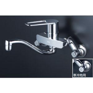 *KVK水栓金具* MSK110KWRUT シングルレバー式混合栓 キッチン用水栓〈送料・代引無料〉