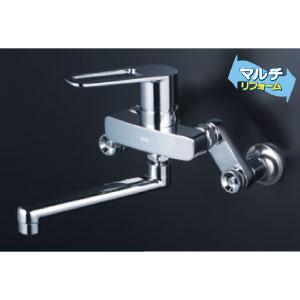 *KVK水栓金具* MSK110KRJT シングルレバー式混合栓 キッチン用水栓 マルチリフォーム〈送料・代引無料〉