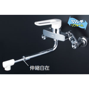 *KVK水栓金具* MSK110KZRJRS シングルレバー式混合栓 キッチン用水栓 マルチリフォーム〈送料・代引無料〉