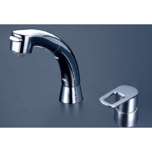 *KVK水栓金具* FSL121DT シングルレバー式洗髪シャワー 洗面用水栓〈送料・代引無料〉