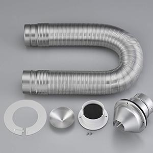 *リンナイ*DPS-100K ガス衣類乾燥機オプション ダンパー付 排湿管セット RDT-80 RDT-54S RDT-52SA RDT-31S用