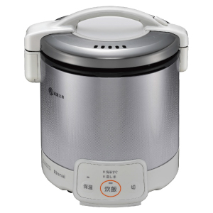 *リンナイ* RR-050VQ(W) グレイッシュホワイト ガス炊飯器 こがまる 電子ジャー付 [1~5合] 0.9L〈送料・代引無料〉
