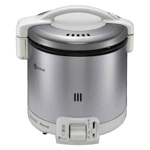 *リンナイ* RR-050FS(W) グレイッシュホワイト ガス炊飯器 こがまる [1~5合] 0.9L〈送料・代引無料〉