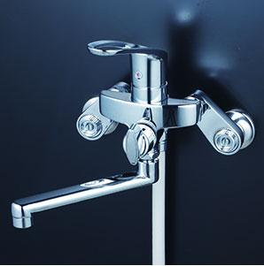 *KVK水栓金具* KF5000ZTRK 楽付王シリーズ シングルレバー式シャワー 寒冷地用〈送料無料・代引不可〉