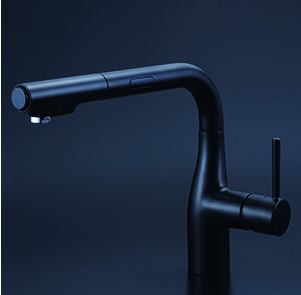 *KVK水栓金具*KM6111ZECM5 シングルレバー式シャワー付混合栓 (センサー付)寒冷地用〈送料無料・代引不可〉