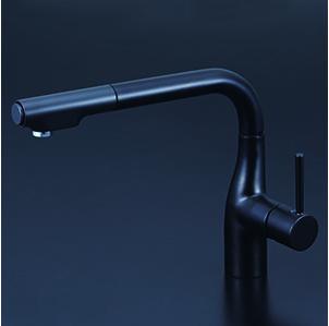 *KVK水栓金具*KM6101ZVECM5 シングルレバー式シャワー付混合栓 寒冷地用(送料無料・代引不可〉