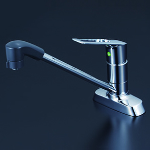 *KVK水栓金具*KM5081TFEC/KM5081ZTFEC シングルレバー式シャワー付混合栓 一般地用・寒冷地用(送料無料・代引不可〉