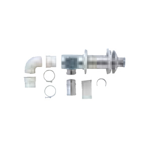 *サンポット*FF-70-062 薄型給排気筒セットうしろタイプ 石油給湯器用〈送料・代引無料〉