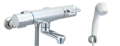 *INAX*浴室用サーモスタット付 シャワーバス水栓壁付タイプ 洗い場専用 BF-HB146TG