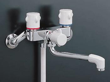 *INAX*浴室用2ハンドルシャワーバス水栓壁付タイプ 浴槽・洗い場兼用BF-M115H