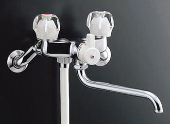 *INAX*浴室用2ハンドルシャワーバス水栓壁付タイプ 浴槽・洗い場兼用BF-615H[220]-G