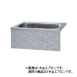 *JFE*KS110TL ステンレス浴槽 KSシリーズ 2方全エプロン 背もたれ据置タイプ[満水211L] [受注生産品]