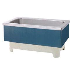 *JFE*KSWB100 ステンレス浴槽 KSWBシリーズ 2方半エプロン ストレート埋込タイプ[満水320L] 水玉ブルー
