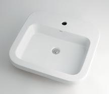 *KAKUDAI*洗面用 角型洗面器 493-004[1ホール]/493-005[3ホール]