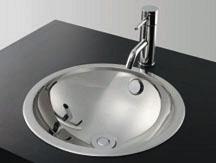*KAKUDAI*洗面用 ステンレス丸型洗面器鏡面仕上げ 493-050