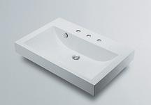 *KAKUDAI*洗面用 角型洗面器493-071-750[3ホール]